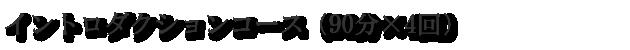 イントロダクションコース(90分×4回)